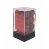 Kép 1/2 - Chessex Gemini 16mm d6 with pips Dice Blocks (12 Dice) - Black-Red w/gold