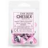 Kép 1/2 - Chessex Gemini Polyhedral Ten d10 Sets - Black-Pink w/white