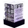 Kép 1/2 - Chessex Gemini 12mm d6 Dice Blocks with pips Dice Blocks (36 Dice) - Purple-Steel w/white