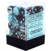 Kép 1/2 - Chessex Gemini 12mm d6 Dice Blocks with pips Dice Blocks (36 Dice) - Black-Shell w/white