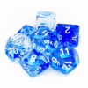 Kép 1/2 - Chessex Nebula 7-Die Set - Dark Blue w/white