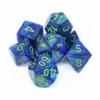 Kép 1/2 - Chessex Lustrous 7-Die Set - Dark Blue w/green