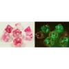 Kép 1/2 - Chessex Lab Dice 4 - 7 Die Set Gemini Clear-Pink/white Luminary
