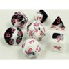 Kép 1/2 - Chessex Lab Dice 4 - 7 Die Set Gemini Black-White/pink