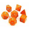 Kép 1/2 - Chessex Lab Dice 4 - 7 Die Set Heavy Dice Polyhedral Orange/turquoise
