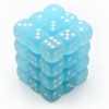 Kép 1/2 - Chessex Signature 12mm d6 with pips Dice Blocks (36 Dice) - Frosted Teal w/white
