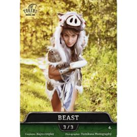 Tokens for MTG - Cosplay Token Beast 3/3 (10 pcs)