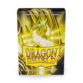 Dragon Shield Small Sleeves - Japanese Matte Yellow (60 Sleeves)