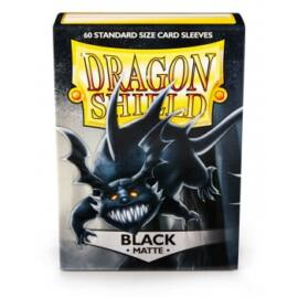 Dragon Shield Standard Sleeves - Matte Black (60 Sleeves)