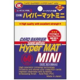 KMC Small Sleeves - Hyper Mat White (60 Sleeves)
