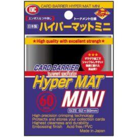 KMC Small Sleeves - Hyper Mat Black (60 Sleeves)