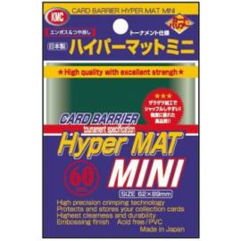 KMC Small Sleeves - Hyper Mat Green (60 Sleeves)