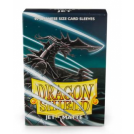 Dragon Shield Small Sleeves - Japanese Matte Jet (60 Sleeves)