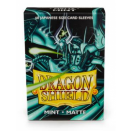 Dragon Shield Small Sleeves - Japanese Matte Mint (60 Sleeves)
