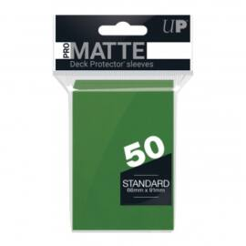 UP - Standard Sleeves - Pro-Matte - Non Glare - Green (50 Sleeves)