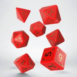 RuneQuest Red & gold Dice Set