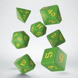 Classic Runic Green & yellow Dice Set (7)