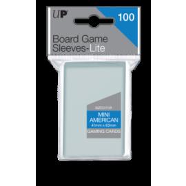UP - Lite Mini American Board Game Sleeves 41mm x 63mm (100 Sleeves)