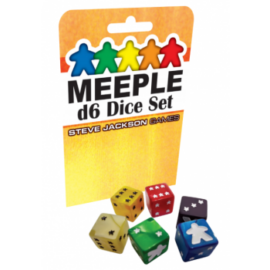 Meeple D6 Dice Set - White - EN