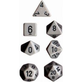 Chessex Opaque Polyhedral 7-Die Sets - Grey w/black