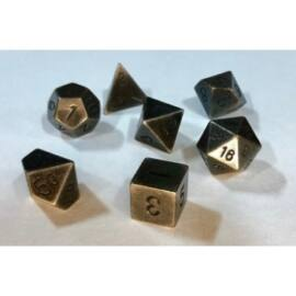 Chessex Specialty Dice Sets - Solid Dark Metal Colour Poly 7 die set