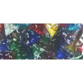 Chessex Translucent Bags of 50 Dice - Bag of 50: Translucent d4