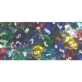 Chessex Translucent Bags of 50 Dice - Bag of 50: Translucent d8
