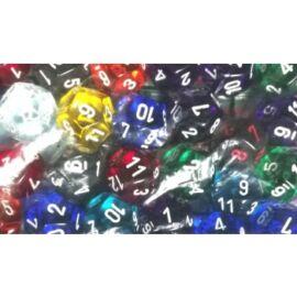 Chessex Translucent Bags of 50 Dice - Translucent d12