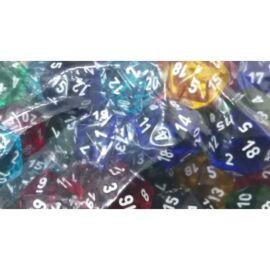 Chessex Translucent Bags of 50 Dice - Translucent d20