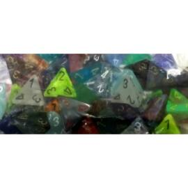 Chessex Signature Bags of 50 Asst. Dice - Poly. d4 Dice