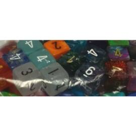 Chessex Signature Bags of 50 Asst. Dice - Poly. d6 Dice