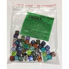 Chessex Signature Bags of 50 Asst. Dice - 12mm d6 w/pips Dice