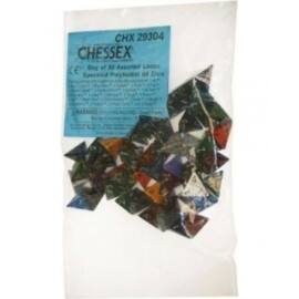Chessex Speckled Bags of 50 Asst. Dice - Loose Speckled Polyhedral d4 Dice