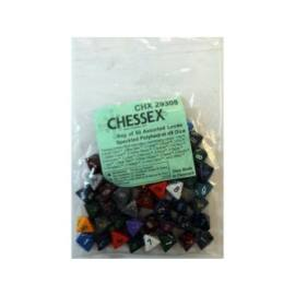 Chessex Speckled Bags of 50 Asst. Dice - Loose Speckled Polyhedral d8 Dice