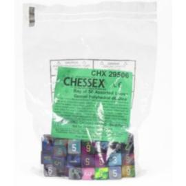 Chessex Gemini Bags of 50 Asst. Dice - Loose Gemini Poly. d6 Dice