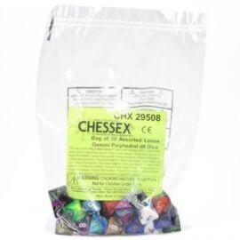 Chessex Gemini Bags of 50 Asst. Dice - Loose Gemini Poly. d8 Dice
