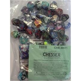 Chessex Gemini Bags of 50 Asst. Dice - Loose Gemini Tens 10 Dice