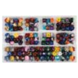 Chessex Loose Dice Samplers, Displays & 125 Polyhedral Dice Assortments