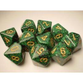 Chessex Speckled Polyhedral Ten d10 Set - Golden Recon