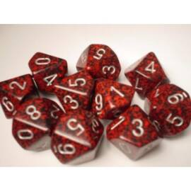 Chessex Speckled Polyhedral Ten d10 Set - Silver Volcano