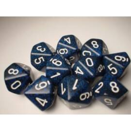 Chessex Speckled Polyhedral Ten d10 Set - Stealth