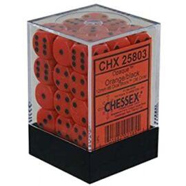 Chessex Opaque 12mm d6 with pips Dice Blocks (36 Dice) - Orange w/black