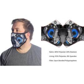 Wild Bangarang Face Mask - Blue Mecha Size M