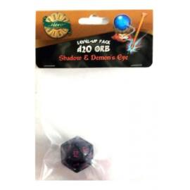 PolyHero 1d20 Orb - Shadow with Demon's Eye