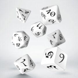 Classic RPG White & black Dice Set (7)