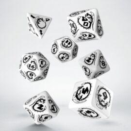 Dragons White & black Dice Set (7)