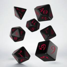Classic RPG Black & red Dice Set (7)