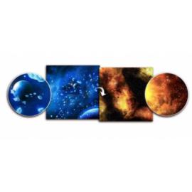 Battlefield In A Box - Gaming Mat - Ice Comets / Fiery Nebula