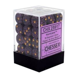 Chessex Speckled 12mm d6 Dice Blocks with Pips (36 Dice) - Hurricane