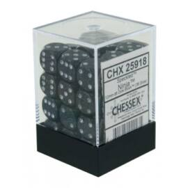Chessex Speckled 12mm d6 Dice Blocks with Pips (36 Dice) - Ninja
